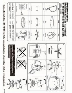 Boss B16021 Black Mesh Drafting Stool Instructions
