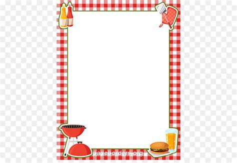 barbecue hot dog picnic clip art bbq border cliparts png