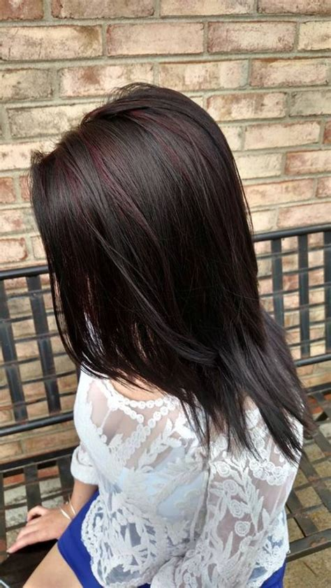black accent highlights ideas for brown and black hair