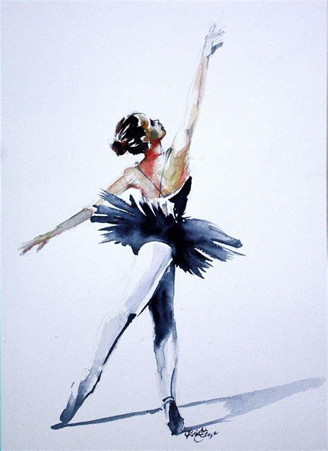 PRINT of Original Watercolor Painting Ballerina Dancer Wall