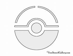 pokemon ball template printable images pokemon images With pokemon templates print