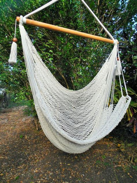 How To Weave A Hammock Chair by Woven Hammock Chair With Cotton And Wood