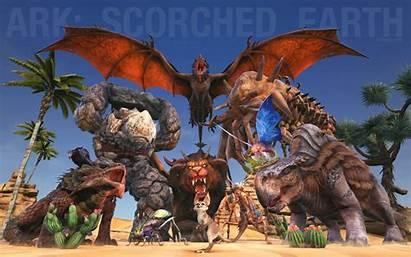 Ark Scorched Earth Wyvern Manticore Elemental Morellatops