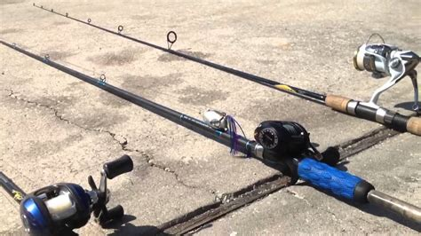 bass fishing rod  reel review youtube