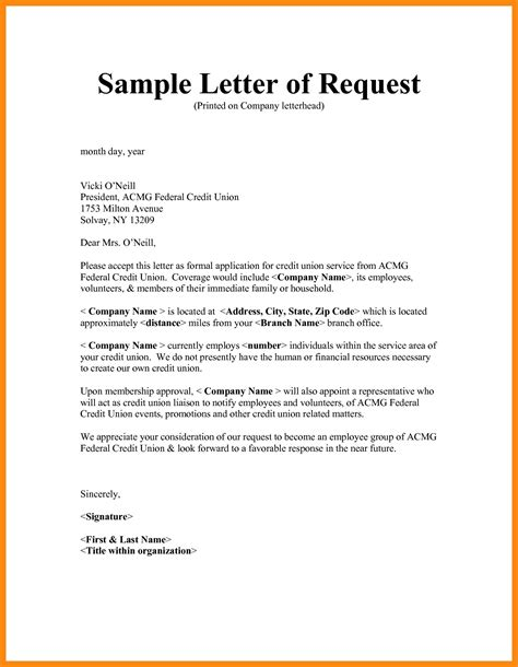 how to write a formal letter of request pdf letters exle