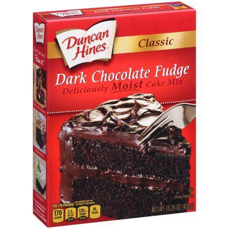 duncan hines classic dark chocolate fudge cake mix