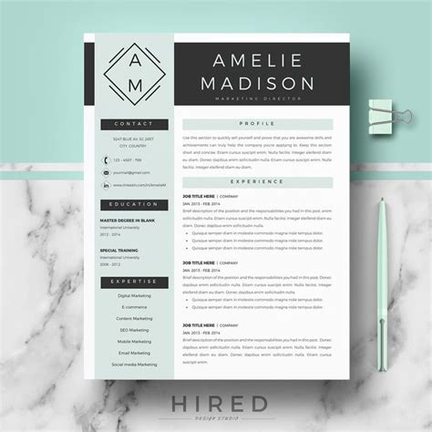 Free Modern Resume Templates For Word by 19 Best Minimalist Resume Cv Templates Images On