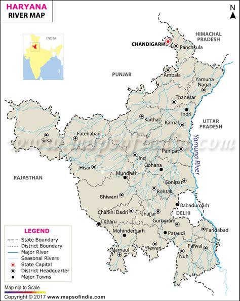 haryana river map rivers  haryana