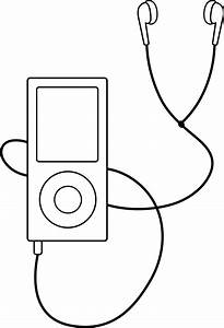 Listening To Music Clipart Black And White | Clipart Panda ...
