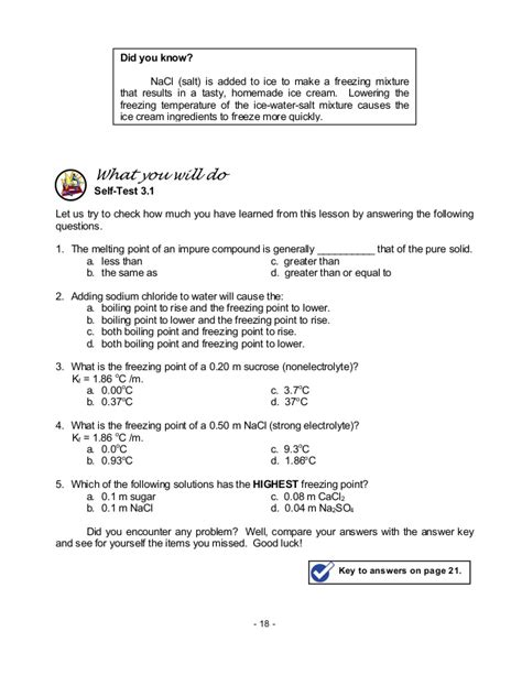Freezing Point Depression And Boiling Point Elevation Worksheet Answer Key Breadandhearth
