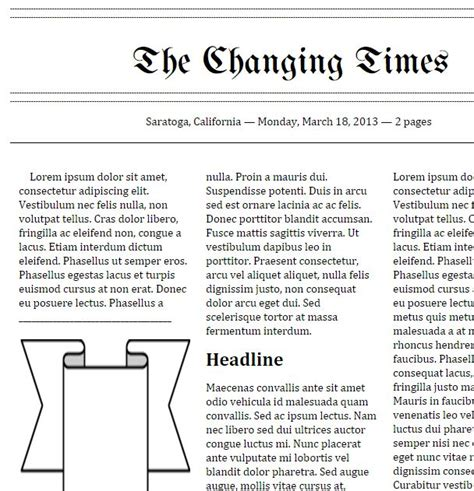 editable newspaper template docs tools that make it click doc newspaper templates