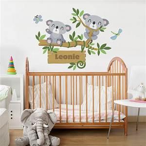 Wandtattoo Baum Kinder : wandtattoo namen kinderzimmer koala baum wunschtext ~ Whattoseeinmadrid.com Haus und Dekorationen