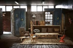 Style Industriel Salon : loft industriel l int rieur clectique au centre de madrid design feria ~ Teatrodelosmanantiales.com Idées de Décoration