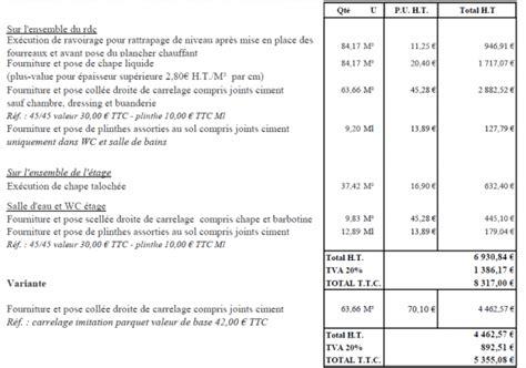 devis pose cuisine exemple devis auteur à devis travaux page 2 sur 4