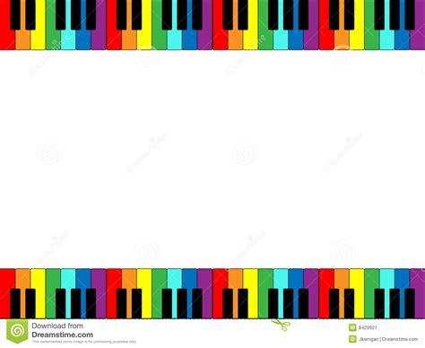 piano keyboard border stock image image
