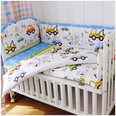 custom crib bedding promotion 6pcs car crib bedding set baby custom nursery