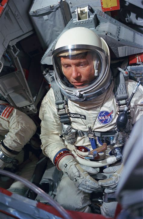 File:Astronaut Wally Schirra during a simulated flight ...