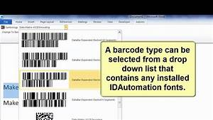 how to create barcodes in microsoft word using barcode With create barcode in word