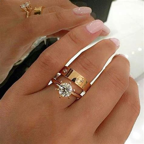 i just adore this diamond engagement ring cartier love ring combination bridesjournal