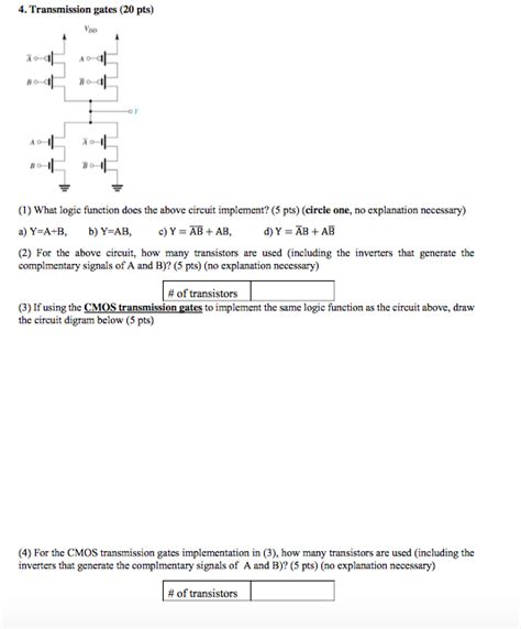 Solved Transmission Rates What Logic Function Does The