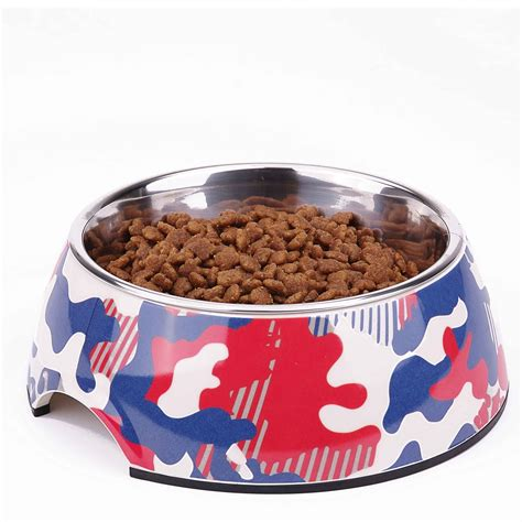 pet dog cat raised bowls removable stainless steel food