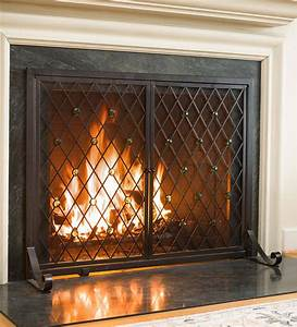 Small, Jeweled, Fireplace, Fire, Screen, With, Two, Doors, -, Walmart, Com