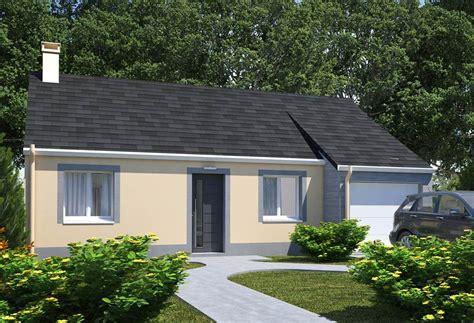 modele de maison plain pied plan maison individuelle 2 chambres 101 habitat concept
