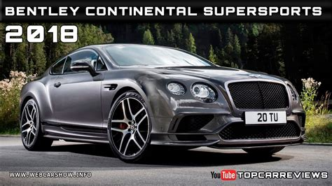 2018 Bentley Continental Supersports Review Rendered Price
