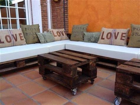 Diy Pallet Indoor Couch Ideas  Pallets Designs