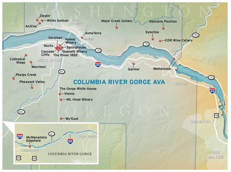 Boat Lettering Portland Oregon by 2012 Wine Guide Columbia River Gorge Map