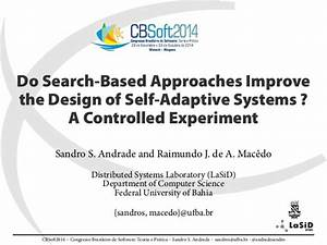 Do Search-Based Approaches Improve the Design of Self ...