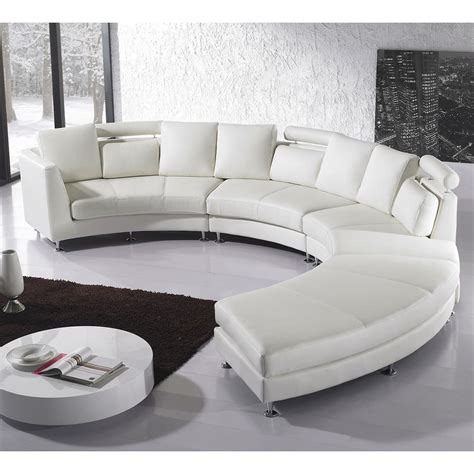 Runde Sofas Modern by Beliani Rotunde White Modern Design Leather