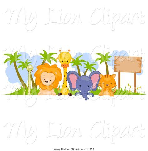 Zoo Animal Wallpaper Borders - zoo animals clipart border safari jungle