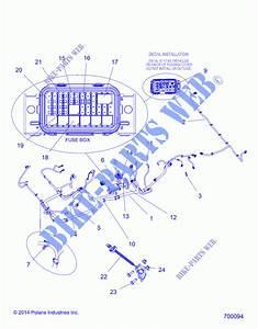 Wire Harnesses R15rtad1aa  Ea  Ed1ea  700094  For Polaris