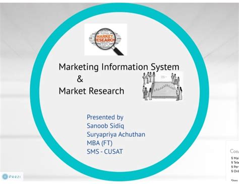 Marketing Information by Marketing Information System And Marketing Research
