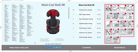 sieges auto nania 276 avis pour le maxi cosi rodi xr découvrez le test