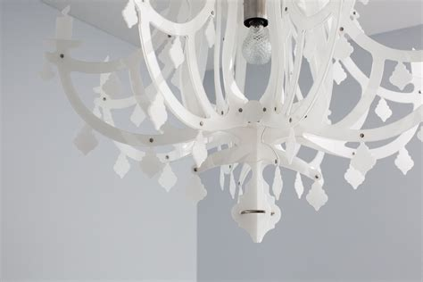 white plastic chandelier from italy black white grey