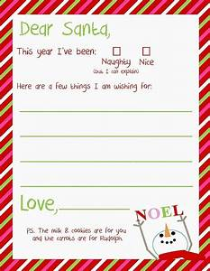 letter to santa free christmas printable a great holiday With pre written christmas letters