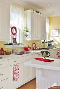 80 cool kitchen cabinet paint color ideas With kitchen colors with white cabinets with red and cream wall art