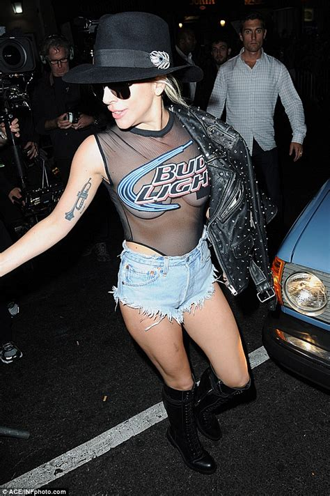 new bud light commercial lady gaga wears underbutt denim shorts as she films bud