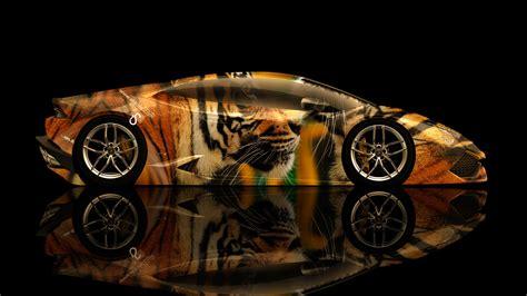 Lamborghini Huracan Side Tiger Aerography Car 2014  El Tony