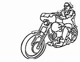 Coloring Motorcycle Drawing Printable Motorcycles Sheets Simple Motorbike Motorbikes Bestcoloringpagesforkids Boys Crayons Harley Template Cool sketch template
