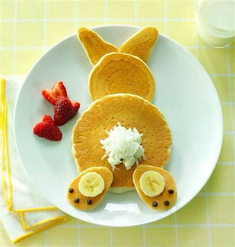 easy cuisine easter bunny pancakes pictures photos and images for