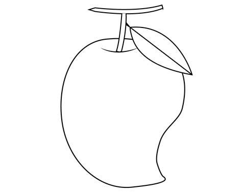 Coloring Mango by Mango Fruits Coloring Pages Careersplay Fruit Coloring