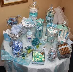 Blue Baby Shower Candy Buffet