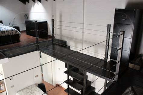 interior design from home scala e soppalco in ferro brunito e legno spatolato