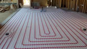 modern radiant heating systems will use pex tubing which will be embedded in the floor heat