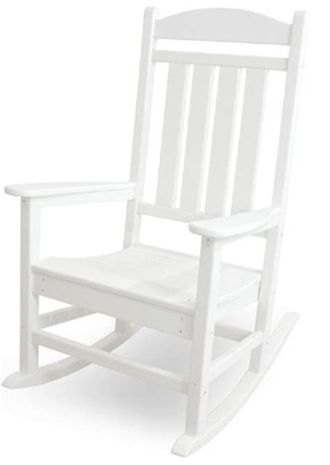 polywood r100wh presidential rocker white rocking chairs