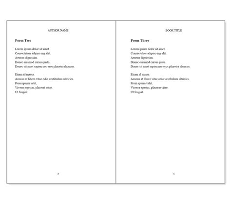 Book Templates For Microsoft Word 10 Best Images Of Poetry Book Cover Template Poetry Book