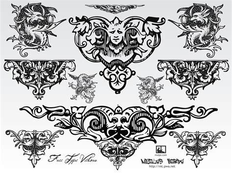 free vector design free vintage vector ornaments
